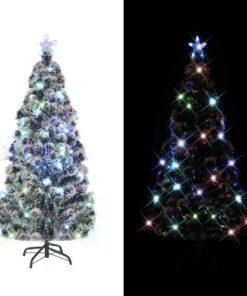 vidaXL kunstigt juletræ med fod/LED 210 cm 280 grene