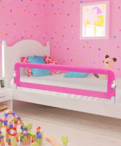 vidaXL sengegelænder til barneseng 150 x 42 cm pink
