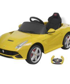 """vidaXL ride-on bil """"Ferrari F12"""", gul, 6 V, med fjernbetjening"""