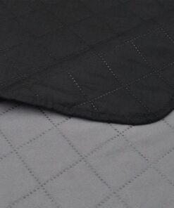 vidaXL dobbeltsidet quiltet sengetæppe 170 x 210 cm sort og grå