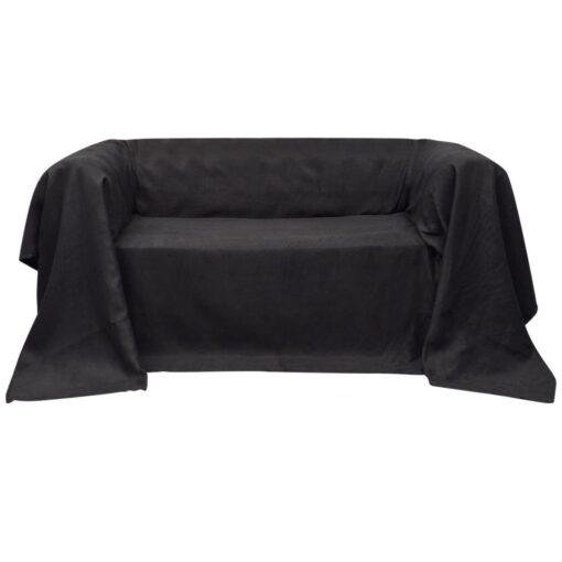 vidaXL sofabetræk 140×210 cm mikroruskind antracitgrå