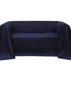 Sofaovertræk i micro-suede, marineblåt, 270×350 cm