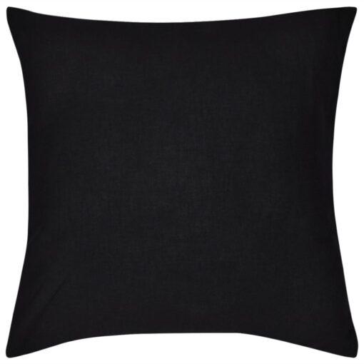 4 sorte pudebetræk i bomuld 50 x 50 cm