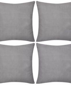 vidaXL 4 pudebetræk i bomuld 50 x 50 cm grå