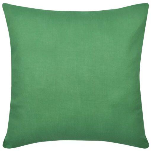 4 grønne pudebetræk i bomuld 80 x 80 cm
