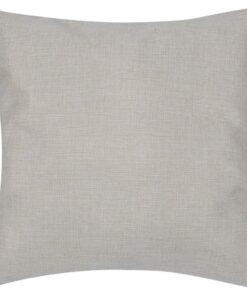 4 Beige pudebetræk linen-look 50 x 50 cm