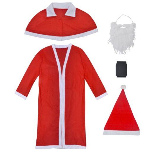 vidaXL julemandskostume med kåbe og kappe