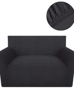 vidaXL sofaovertræk, stræk, antracitgråt, bomuldsjersey