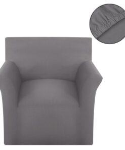 vidaXL sofaovertræk, stræk, gråt, bomuldsjersey