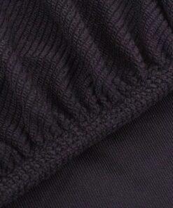 vidaXL sofaovertræk, stræk, brunt, ribstrikket polyesterstof