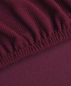 vidaXL Stræk sofacover bourgogne polyester rib strikket stof