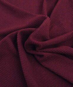 vidaXL Stræk stolecovers 6 stk bourgogne polyester rib stof