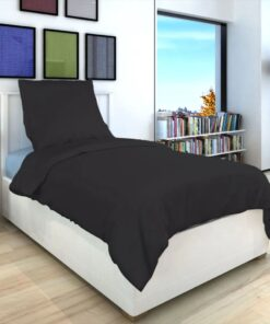 vidaXL sengetøj 135×200/80×80 cm bomuld