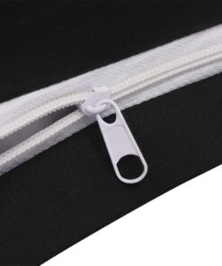 vidaXL sengesæt 155×220/60×70 cm bomuld antracitgrå