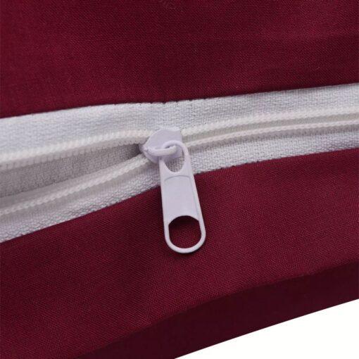 vidaXL sengesæt 135×200/80×80 cm bomuld bordeaux