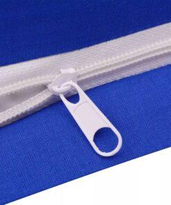 vidaXL sengesæt 200×200/60×70 cm bomuld blå