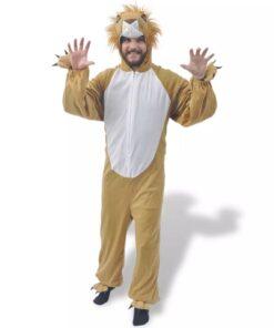 vidaXL karnevalsdragt, løve, størrelse XL-XXL