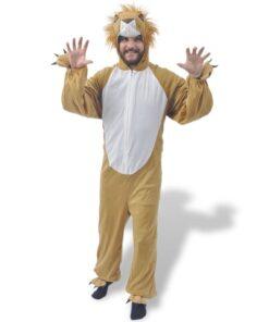 vidaXL karnevalsdragt, løve, størrelse M-L