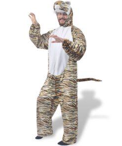 vidaXL karnevalsdragt, tiger, størrelse XL-XXL