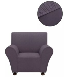 vidaXL sofaovertræk, stræk, antracitgråt, polyesterjersey