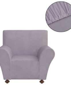 vidaXL sofaovertræk, stræk, gråt, polyesterjersey