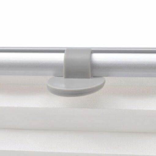 vidaXL plisseret rullegardin hvid C02