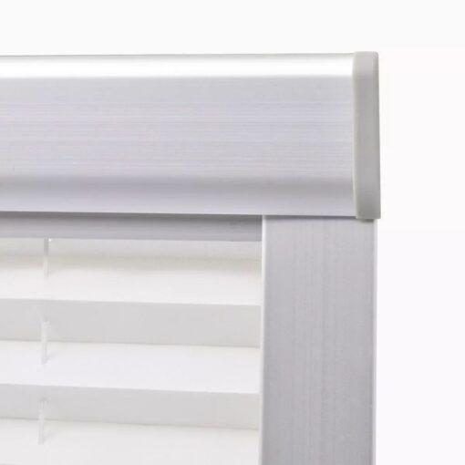 vidaXL plisseret rullegardin hvid F06