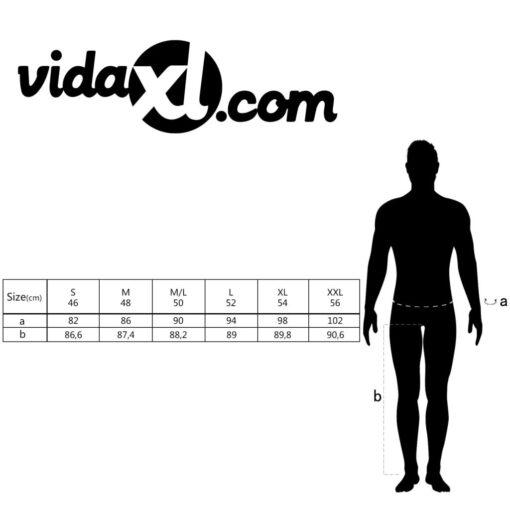 VidaXL Mænd Bukser Sort Størrelse 52