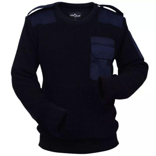 VidaXL Mænd Arbejdssweater Navy Størrelse XXL