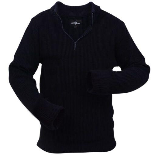 VidaXL Mænd Arbejdssweater Navy Størrelse XL