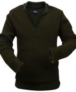 VidaXL Mænd Arbejdssweater Armygrøn Størrese M