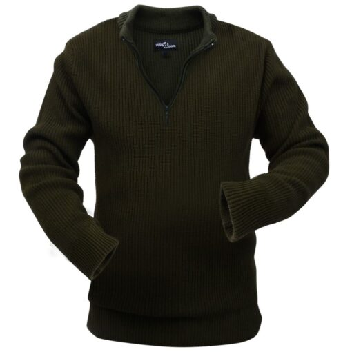 VidaXL Mænd Arbejdssweater Armygrøn Størrese XXL