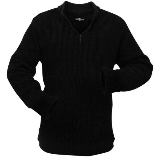 VidaXL Mænd Arbejdssweater Sort Størrelse L
