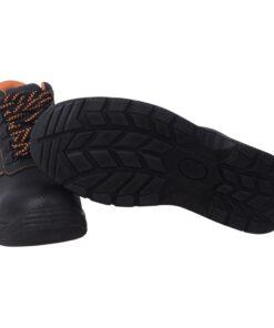 vidaXL sikkerhedssko, sorte, størrelse 41, læder