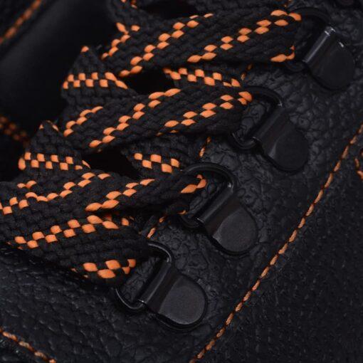 vidaXL sikkerhedssko, sorte, størrelse 45, læder