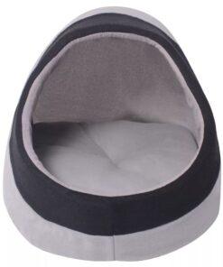 vidaXL kattehule, grå og sort, L