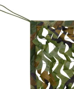 vidaXL kamuflagenet med opbevaringspose, 1,5×3 m