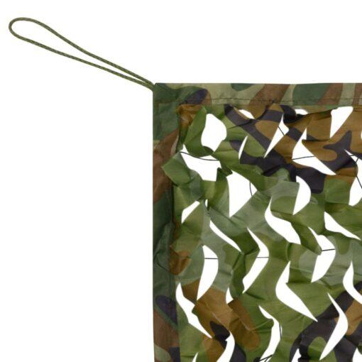 vidaXL kamuflagenet med opbevaringspose, 1,5×7 m