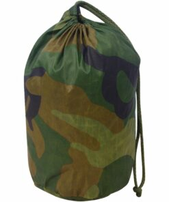 vidaXL kamuflagenet med opbevaringspose, 4×6 m