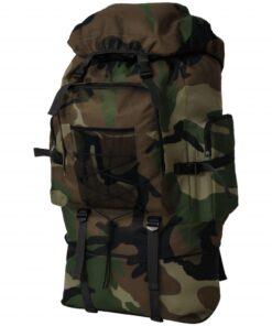 vidaXL Militærygsæk XXL 100 l Camouflage