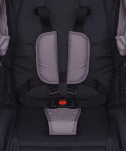 vidaXL 3-i-1 klapvogn aluminium grå og sort