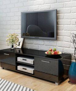vidaXL tv-bord 120×40,3×34,7 cm sort højglans