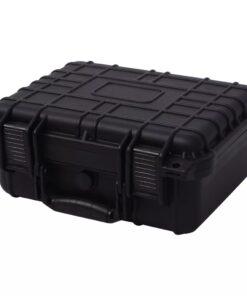 vidaXL sikkerhedskuffert 35×29,5×15 cm sort