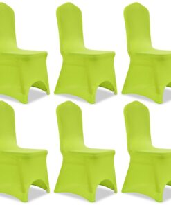 vidaXL Stolebetræk i stretch 6 stk. grøn