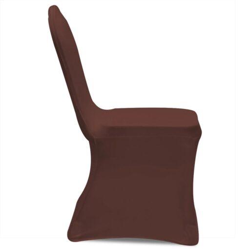 vidaXL Stolebetræk i stretch 4 stk. brun