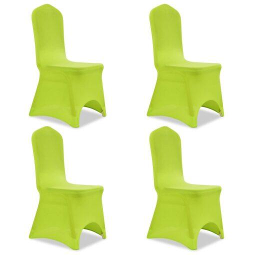 vidaXL Stolebetræk i stretch 4 stk. grøn