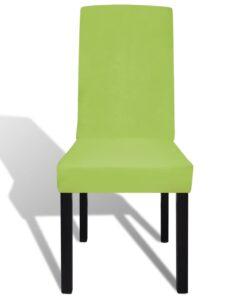 vidaXL Strækbart Stolebetræk 4 Stk. Grøn