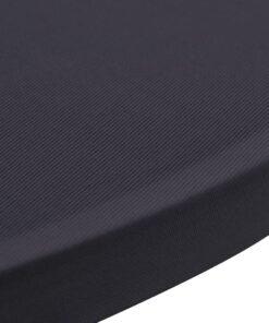 vidaXL bordovertræk i stretch 2 stk. 60 cm antracit