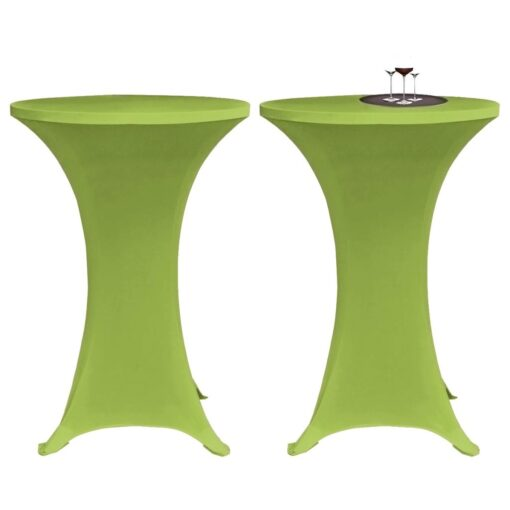 vidaXL bordovertræk i stretch 2 stk. 60 cm grøn