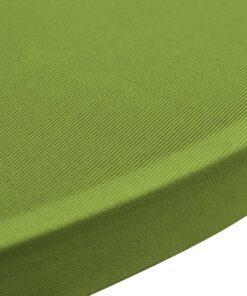 vidaXL Strækbart bordovertræk 2 stk. 70 cm grøn
